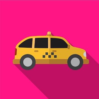 Taxi płaska ikona ilustracja na białym tle wektor symbol znak