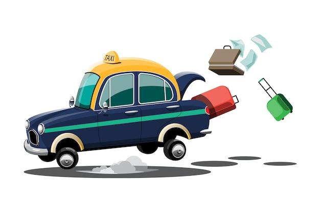 Taxi samochód z bagażem