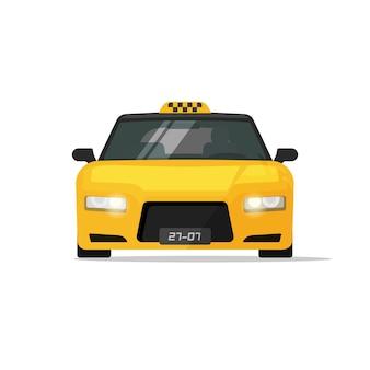 Taxi samochód z taksówką