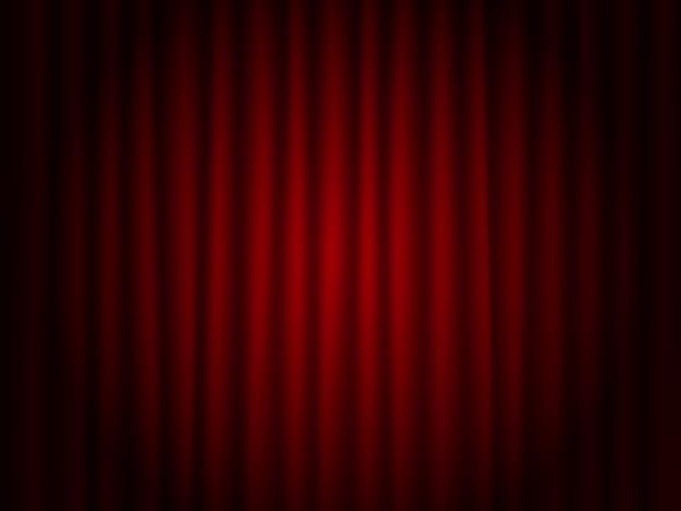 Teatr czerwony drapuje tło