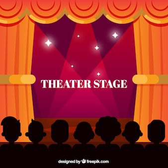 Teatr etap tło