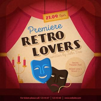 Teatr plakat ilustracja