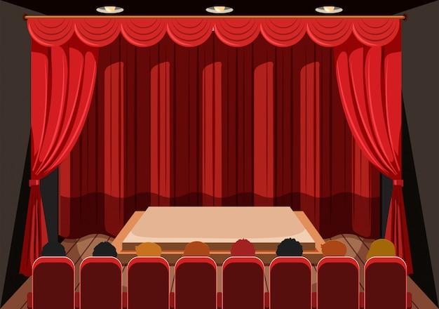 Teatr z czerwonymi zasłonami