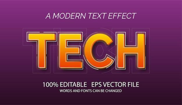 Tech 3d edytowalny szablon efektu tekstowego