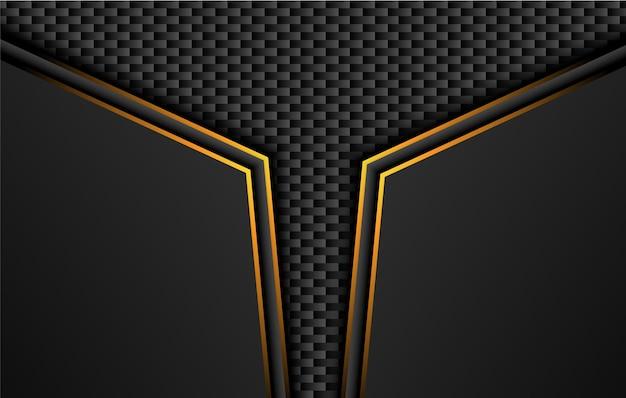 Tech czarne tło z kontrastem pomarańczowo-żółte paski.