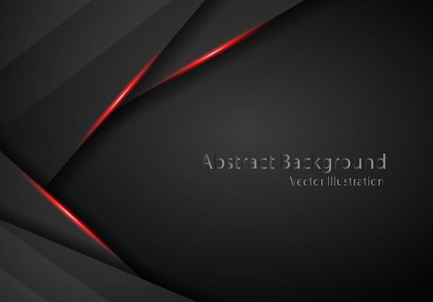 Tech czarne tło z kontrastowymi czerwonymi paskami.