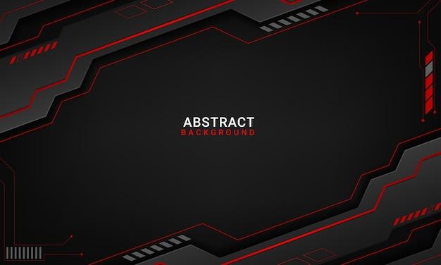 Tech czarne tło z kontrastowymi czerwonymi paskami