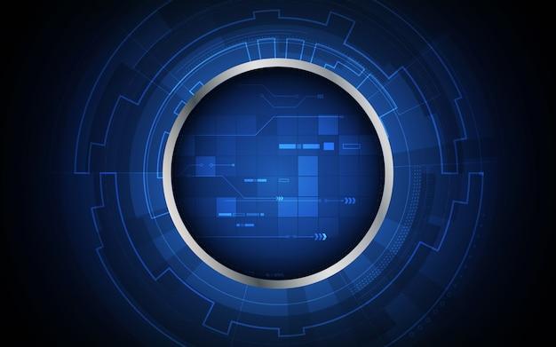Tech sci fi koło projekt innowacji koncepcja tło