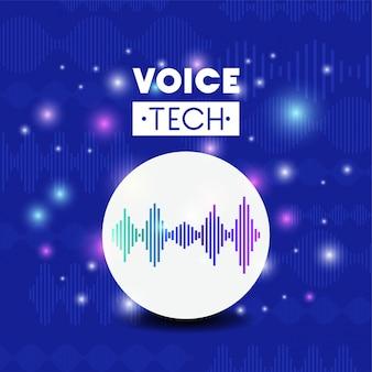Technika rozpoznawania głosu z liniami fal dźwiękowych
