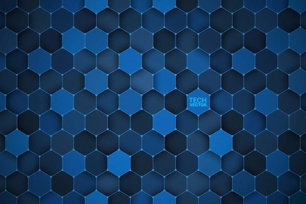 Technologia 3d sześciokątne streszczenie tło