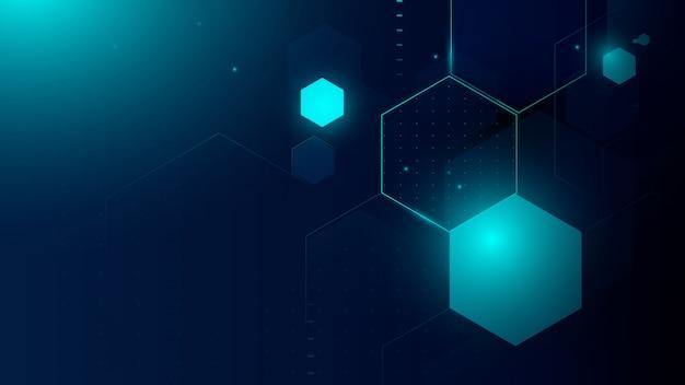 Technologia abstrakcyjna, futurystyczna koncepcja cyfrowa hi tech. streszczenie sześciokątne tło cząsteczki. koncepcja naukowa i technologiczna.