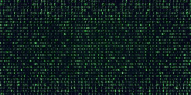 Technologia abstrakcyjna kod binarny tło cyfrowe dane binarne i koncepcja bezpiecznych danych