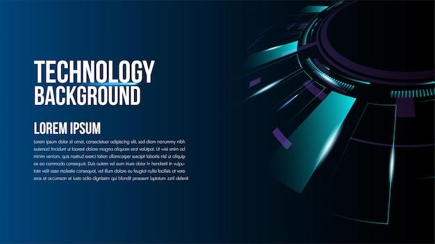 Technologia abstrakcyjna koncepcja komunikacji hitech technologia cyfrowa innowacja biznesowa