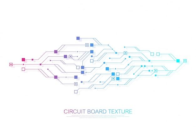 Technologia abstrakcyjna płytka drukowana inżynieria koncepcji elektronicznej płyty głównej.