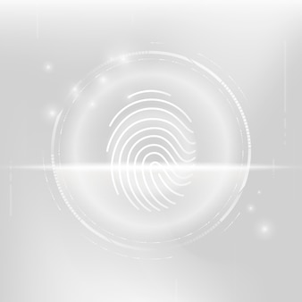 Technologia bezpieczeństwa cybernetycznego skanowania biometrycznego odcisków palców