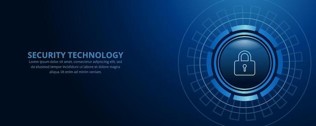 Technologia bezpieczeństwa sieci i ochrony danych w tle projekt
