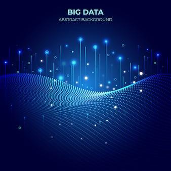 Technologia big data gradient tło