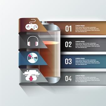 Technologia biznesowa szablon graficzny informacji