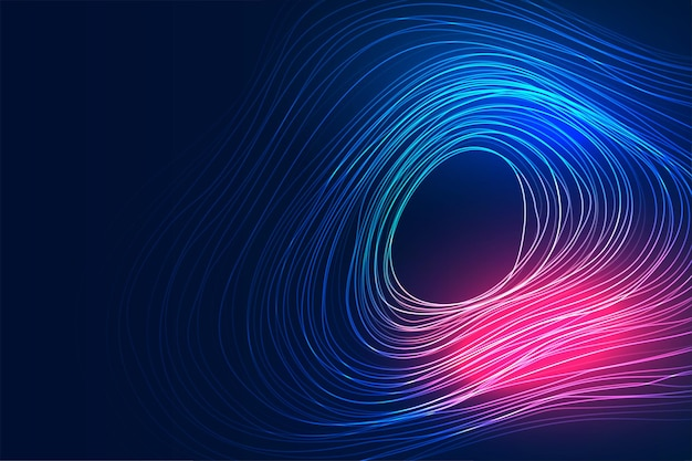Technologia cyfrowa płynąca linia ruchu w tle