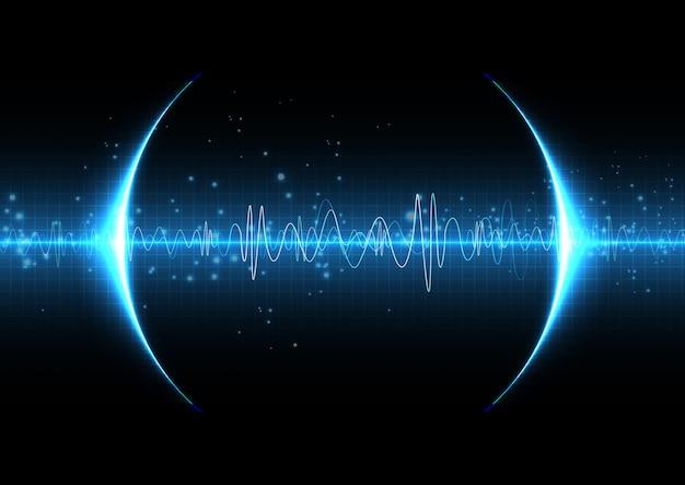Technologia cyfrowa sound light blue