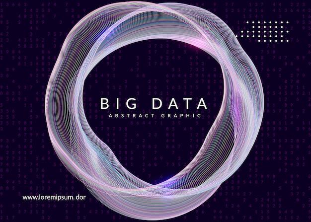 Technologia cyfrowa streszczenie tło. koncepcja sztucznej inteligencji, głębokiego uczenia się i dużych zbiorów danych.