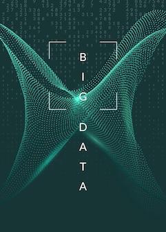 Technologia cyfrowa streszczenie tło. sztuczna inteligencja, głębokie uczenie się i koncepcja dużych zbiorów danych.