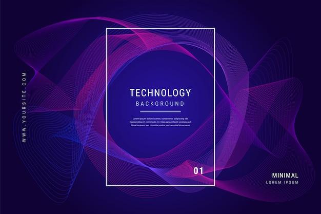 Technologia cyfrowa wave linie siatki geometryczne tło