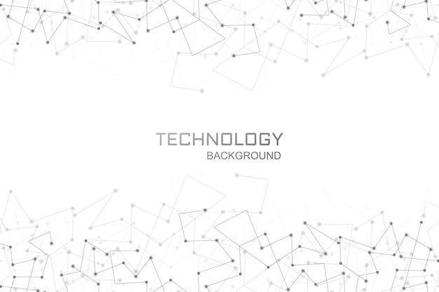 Technologia cyfrowa wielokąta połączenia tło