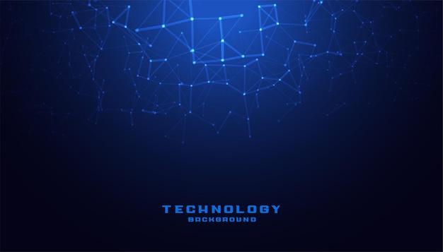 Technologia cyfrowa ze schematem low poly mesh