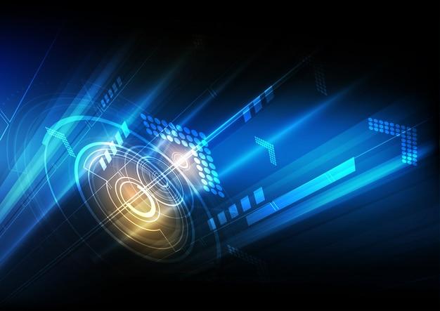 Technologia cyfrowej komunikacji abstrakcyjne tło