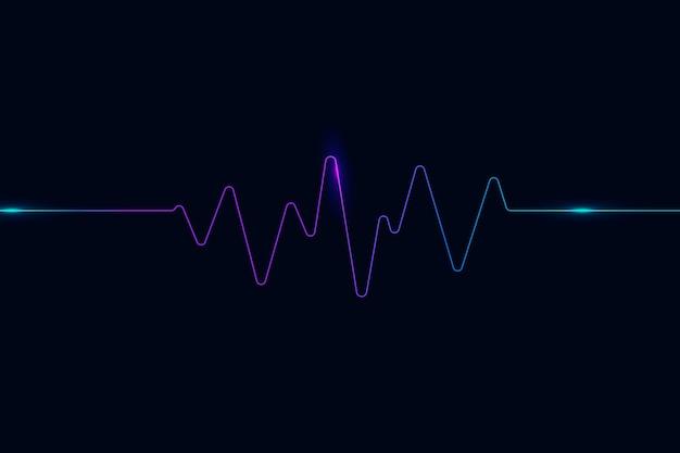 Technologia Cyfrowej Rozrywki W Tle Z Falą Dźwiękową Darmowych Wektorów
