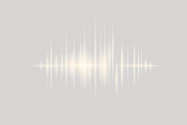 Technologia cyfrowej rozrywki w tle z szarą falą dźwiękową