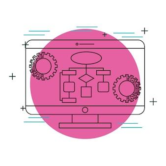 Technologia diagramów monitorów komputerowych