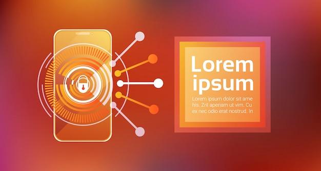 Technologia dostępu do telefonu komórkowego aplikacja zabezpieczająca koncepcja bezpieczeństwa smartphone app