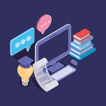 Technologia edukacji online z komputerem stacjonarnym