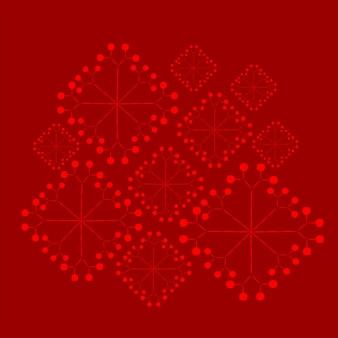 Technologia elektronicznego projektowania logo śniegu na boże narodzenie w tle