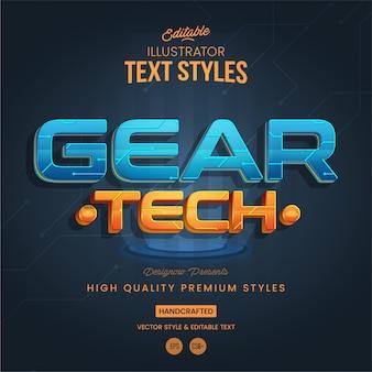 Technologia futurystyczny styl tekstu