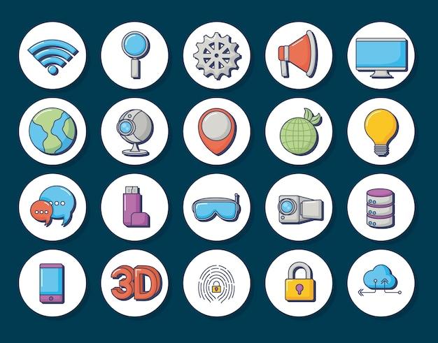 Technologia i innowacja projekt ikona wektor ilustratorzy