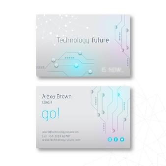 Technologia i przyszłość dwustronna wizytówka