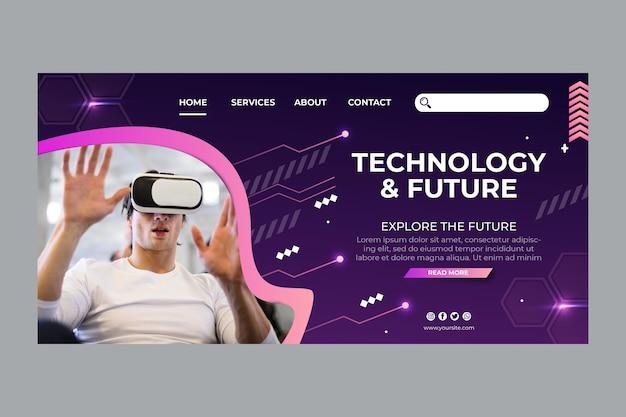 Technologia i przyszły szablon strony docelowej