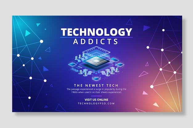 Technologia i przyszły szablon transparentu