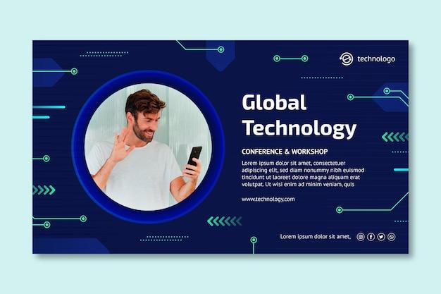 Technologia i szablon przyszłego banera