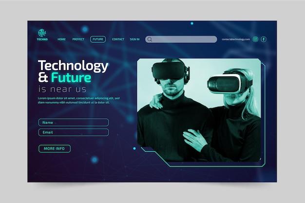 Technologia i szablon przyszłej strony docelowej