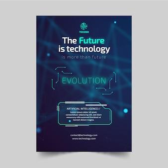 Technologia i szablon ulotki przyszłości