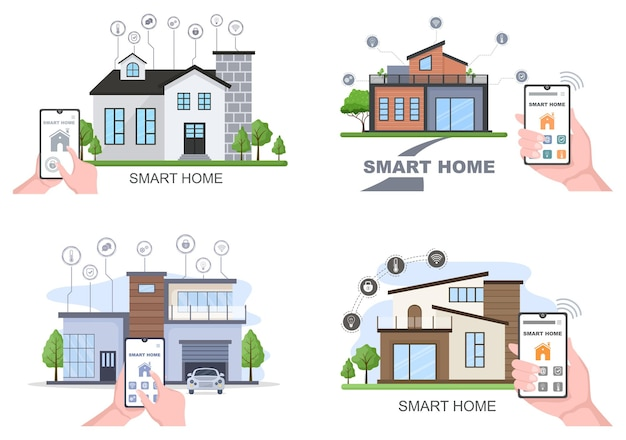 Technologia inteligentnego domu wektor