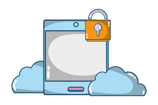Technologia komputerowa kreskówka bezpieczeństwa