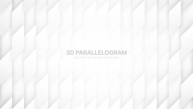 Technologia kształtów równoległoboku minimalne białe tło
