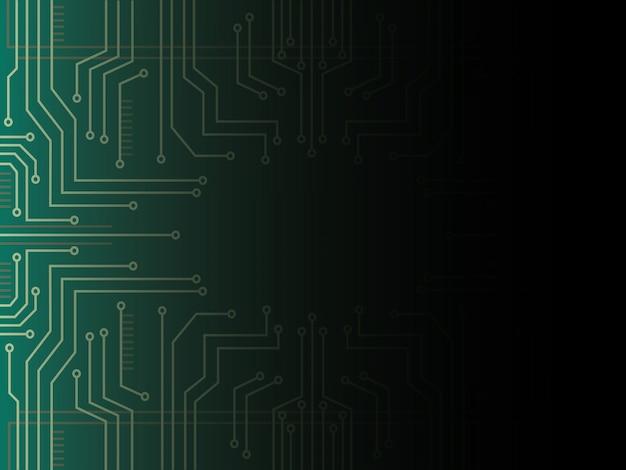 Technologia linii mikrochip i tło kosmiczne