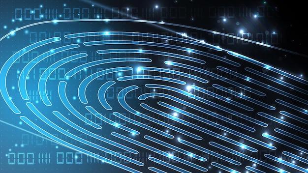 Technologia linii papilarnych tło wektor. identyfikacja cyfrowa. eps 10