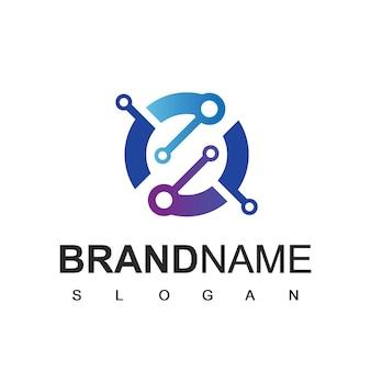 Technologia logo design vector